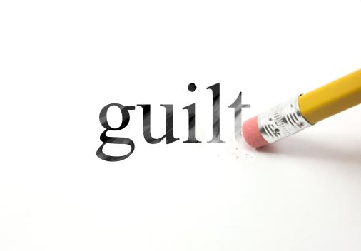 pencil erasing 'guilt'